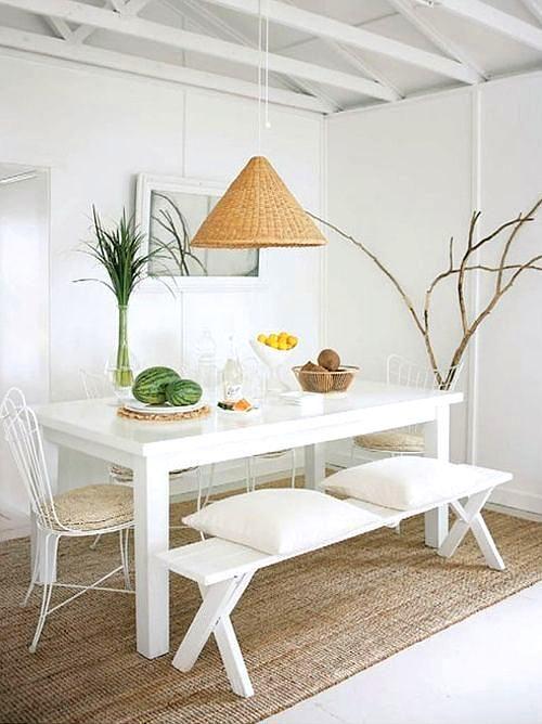 comedor blanco con toques naturales | DINING | Decoración de unas ...