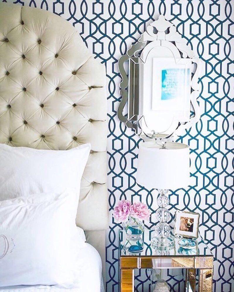 Navy Blue Links Nu1648 Peel And Stick Wallpaper White Master Bedroom Bedroom Night Stands Master Bedroom