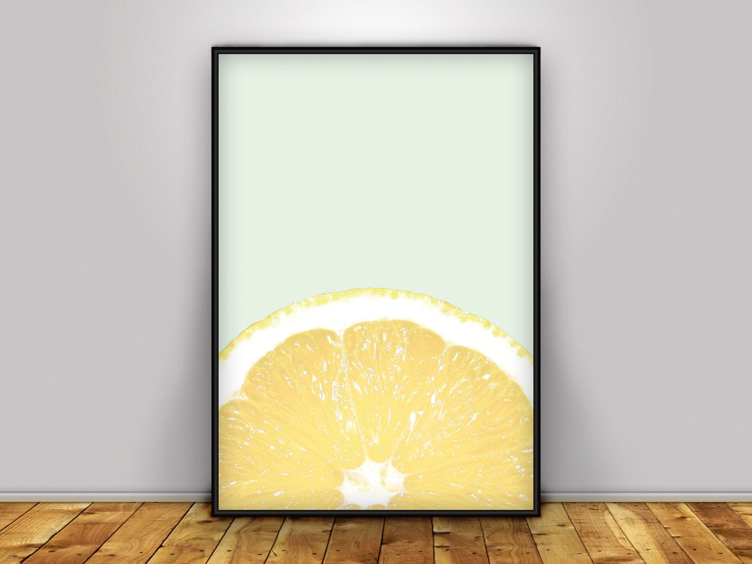 Lemon Wall Art, Wall Art, Lemon Print, Kitchen Art, Citrus Print ...