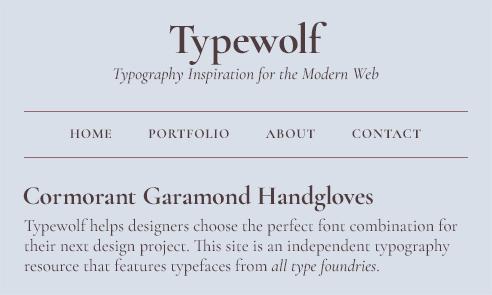 Cormorant Garamond Font Sample | Best google fonts, Google