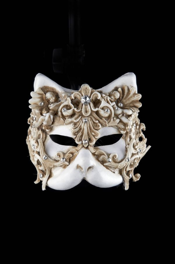 Gold and Silver Baroque Style Masquerade Mask