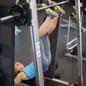 smith machine hip raise  love this exercise great for