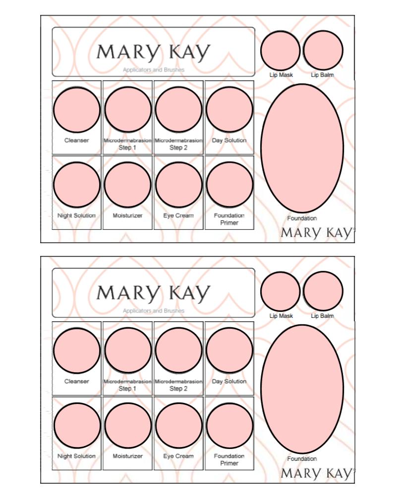 Mary Kay tray template