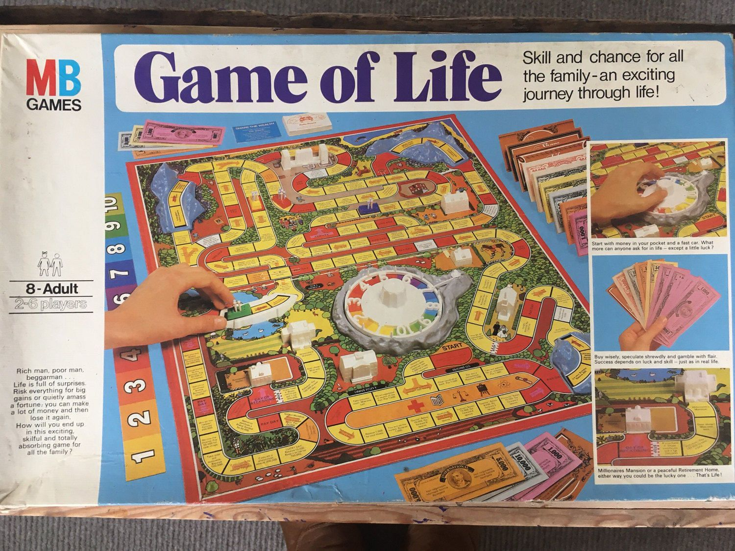 Game Of Life 1970s Board Game Kitsch Game Retro Game Vintage