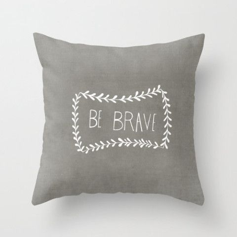 Decorative Pillows With Quotes : Grey Illustrated Decorative Pillow Cover Home Decor Inspirational Quote Throw Pillow Cover Home ...