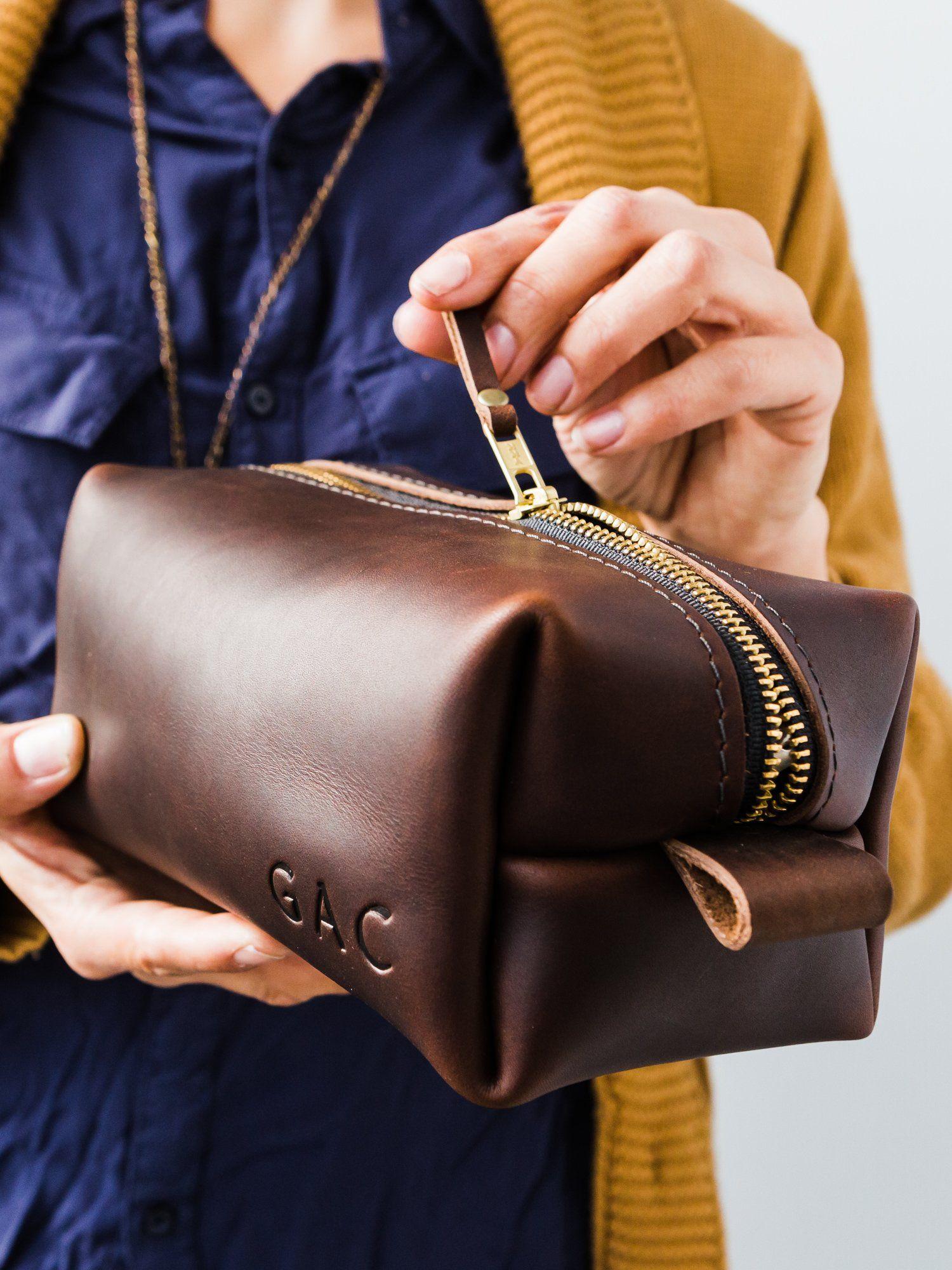 cac2e151175a Grizzly Leather Dopp Kit Bag | Dopp & Travel Kit | Dopp kit, Bags ...
