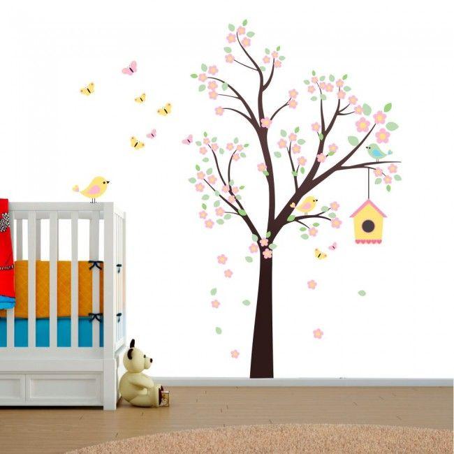 Adesivo De Parede Infantil Arvore Encantada Adesivos Parede