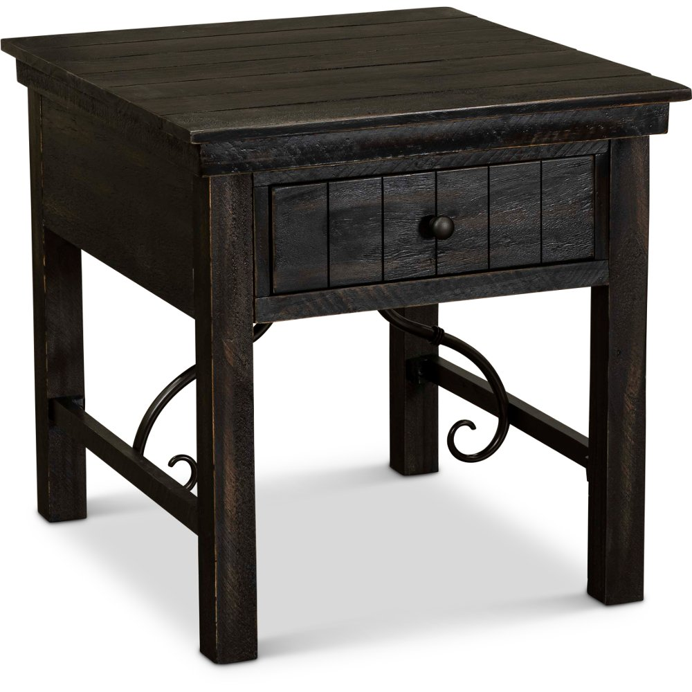 Traditional Black End Table San Miniato Black End Tables End Tables Reclaimed Wood Table