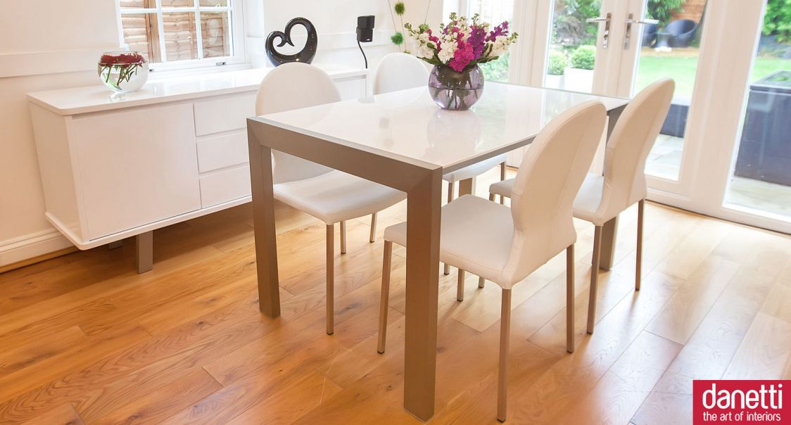 White Gloss Dining Room Table  Best Spray Paint For Wood Prepossessing White Gloss Dining Room Table Design Inspiration