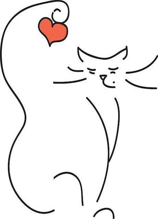 Love Cat\' Poster by LilCat | Illustrations | Pinterest | Gato ...