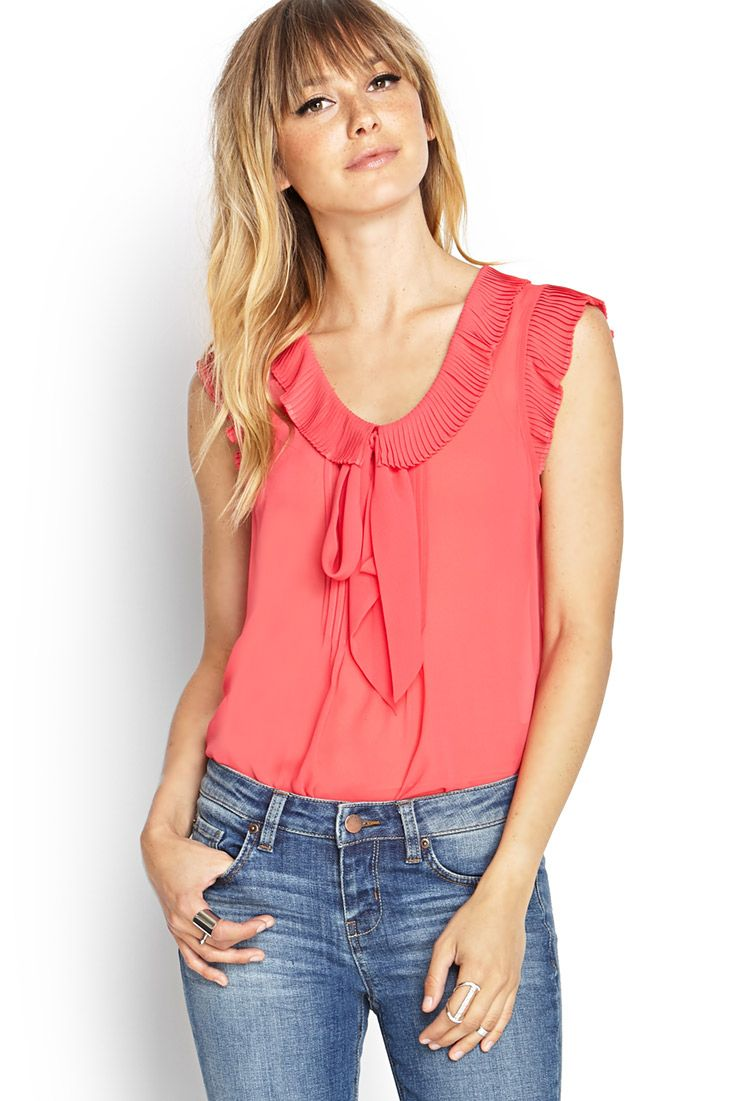 Pleated Ruffle Tee | LOVE21 #F21Contemporary #SummerForever