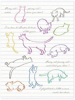 クリエイティブガールと作った かわいいしぐさがたまらない 私の恋人を見つける猫シールセットの会