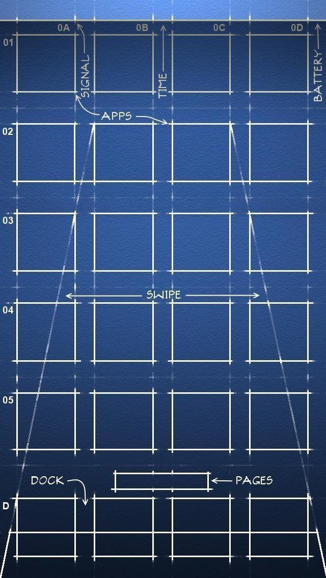 Blueprint Homescreen Iphone Homescreen Wallpaper Ipod Wallpaper Iphone 5s Wallpaper