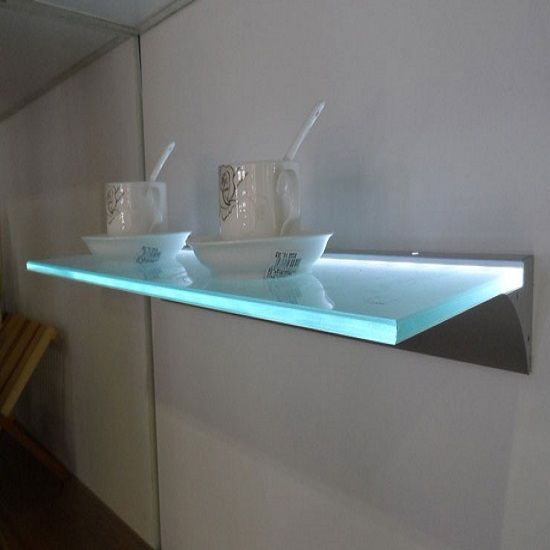 Glass Floating Shelves Extraordinary LED Glass Floating Shelf Bar Shelves Pinterest Lead Glass