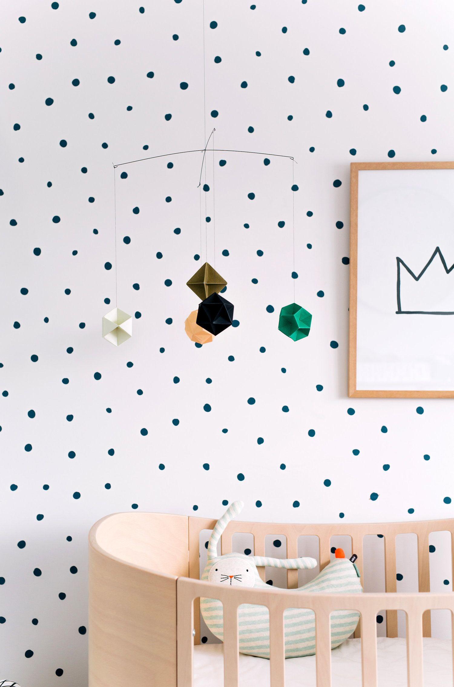 Polka dot wallpaper Nursery & Kids Room Pinterest