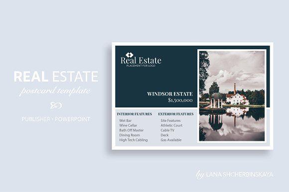 Real Estate Postcard Template No8 Creativework247 Cards