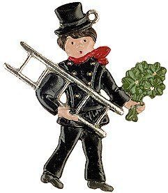 Chimney Sweep 3 German Pewter Christmas Ornament