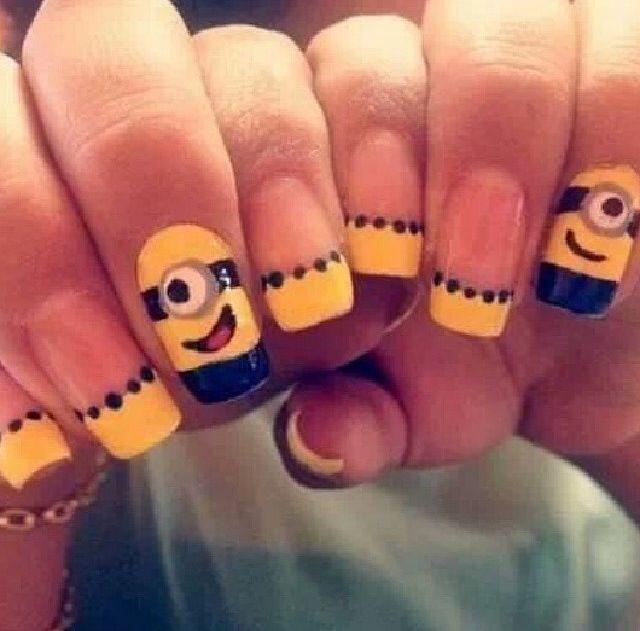 Minions nails | Minion nails | Pinterest