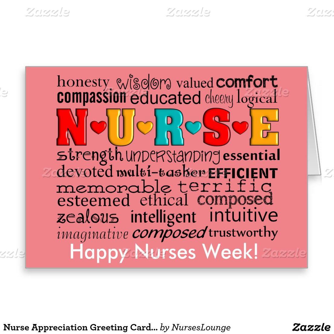 Nurse appreciation greeting card salmon appreciation nurses week nurse appreciation greeting card salmon m4hsunfo Image collections