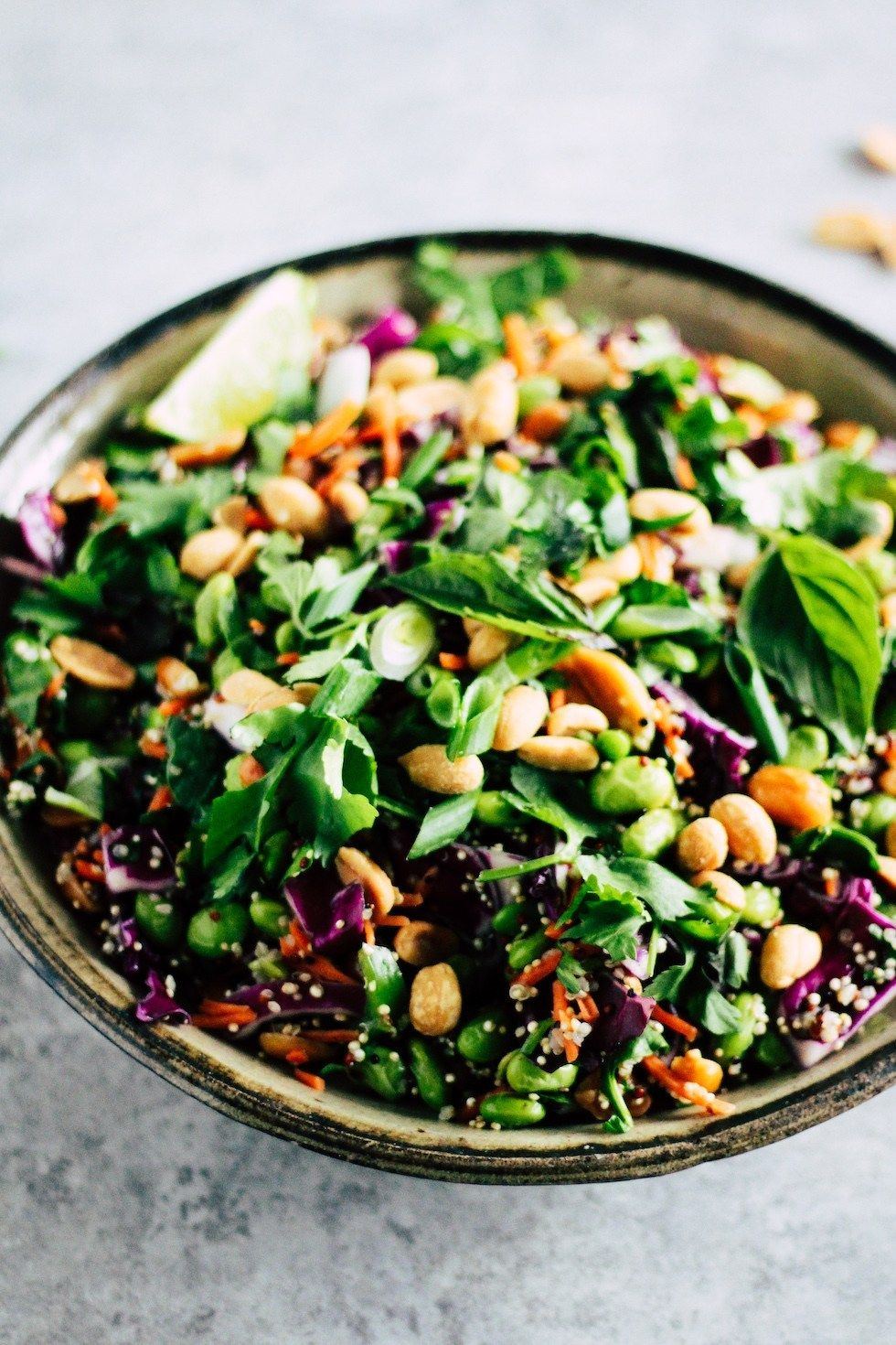 Spicy Edamame Crunch Salad Recipe Edamame Salad Salad Recipes