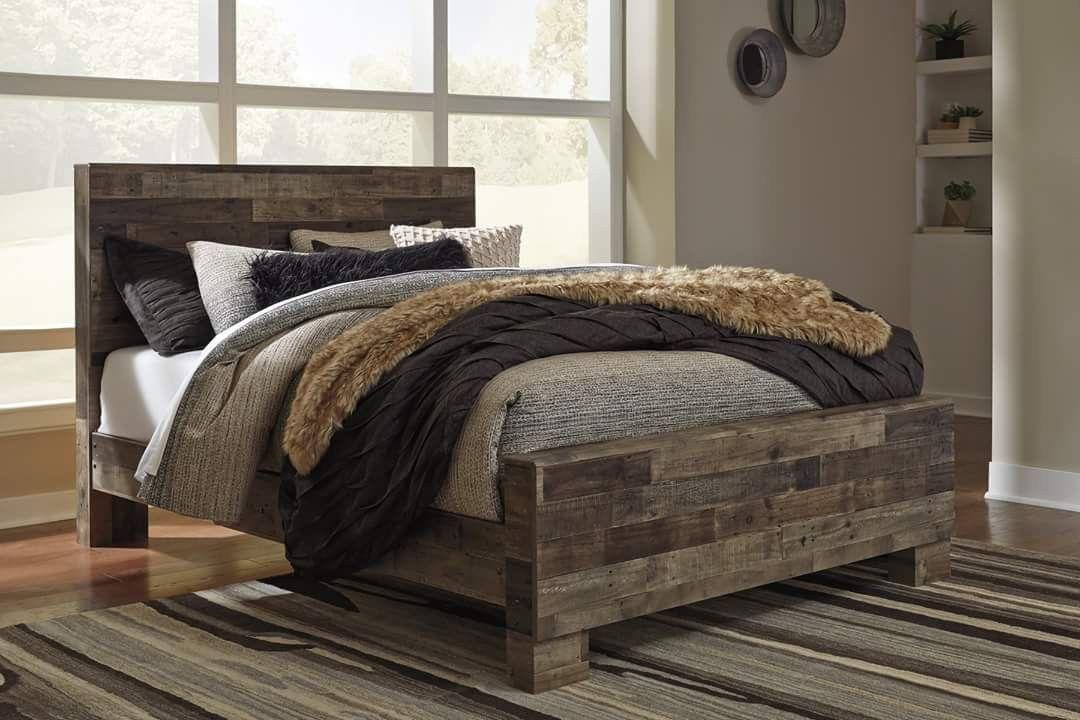 Pin by Erin Bingham on Bedrooms Rustic queen bed