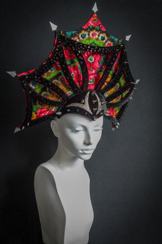 Russian Kokoshnik with thorns by ChapeauEgoiste on Etsy