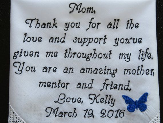 Embroidered Wedding Handkerchief by elegantmonogramming on Etsy