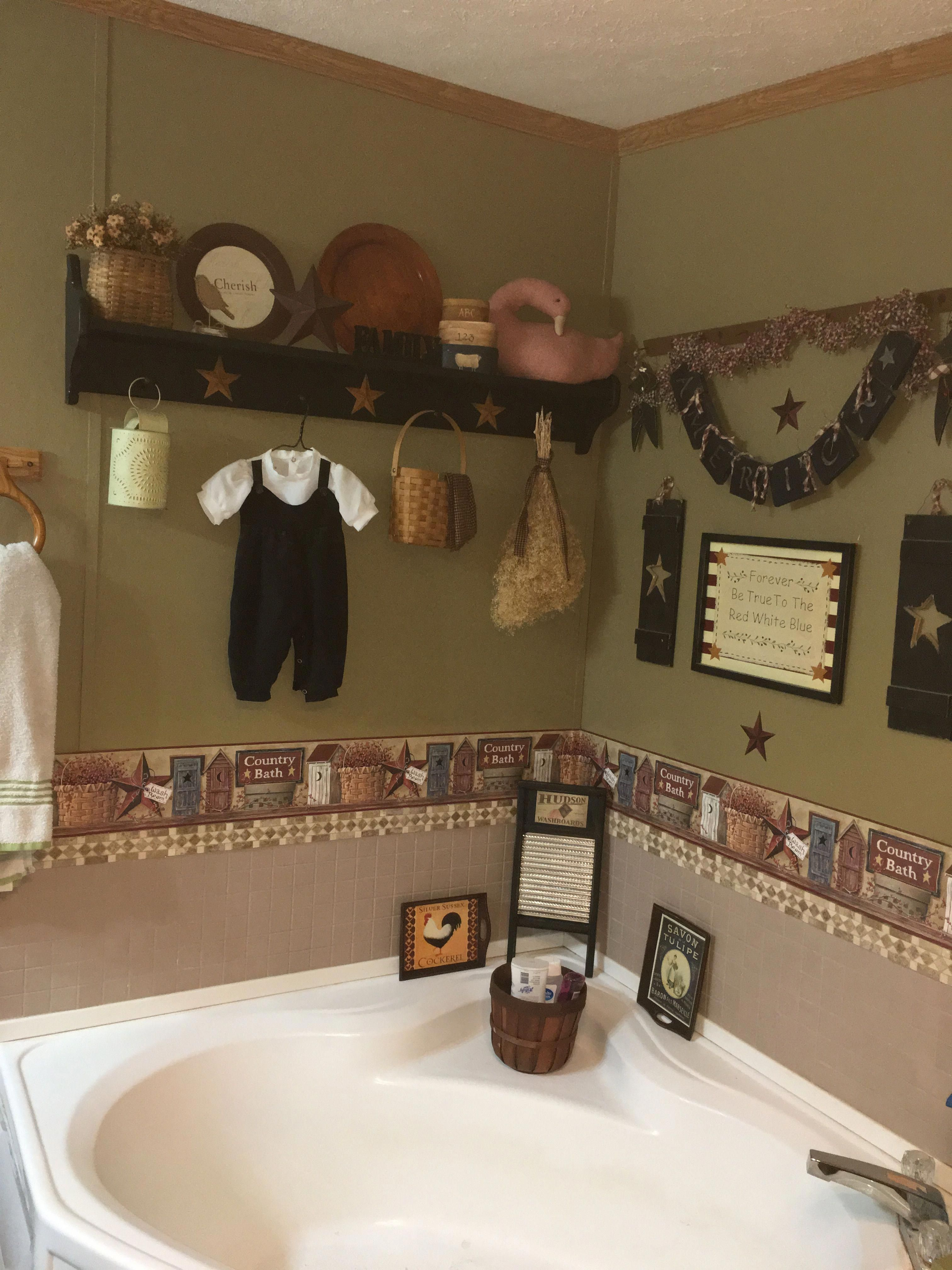 Primitive Country Decorating For The Kitchen Primitivecountrydecorating Primitive Bathrooms Primitive Country Bathrooms Country Bathroom Decor