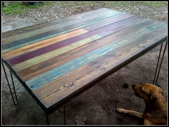 Custom Rustic Dining Table Made From Reclaimed By HappyHomeAustin