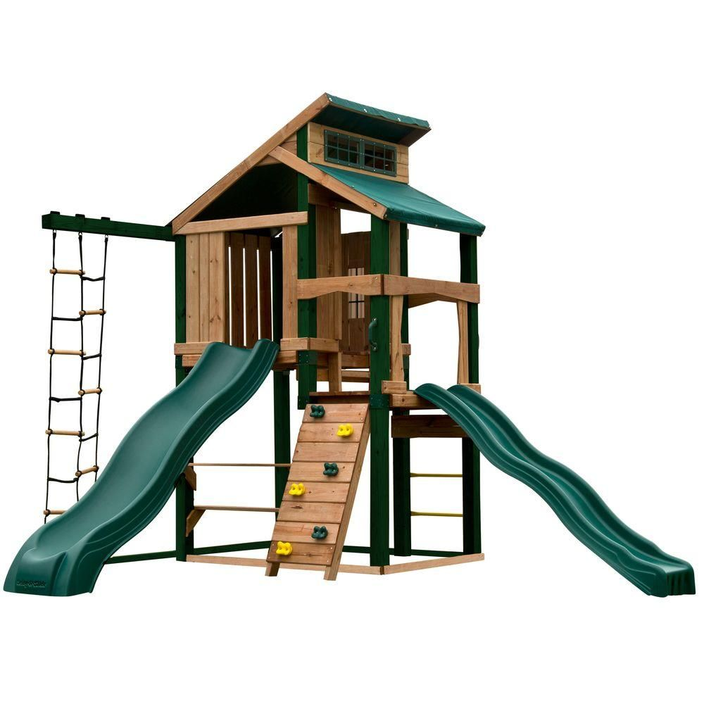 Swing N Slide Playsets Hideaway Clubhouse Plus Playset With Cool