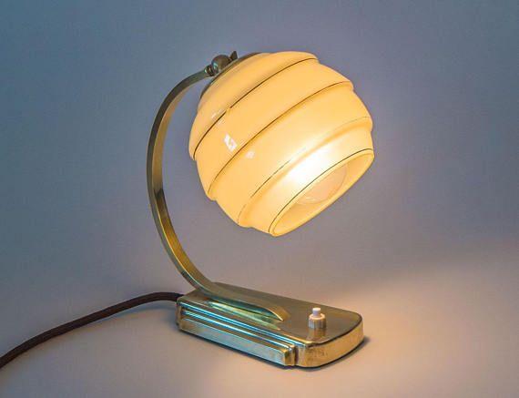 Alte Tischlampe Art Deco Aus Den 40er Jahren Vintage Etsy Lamp Desk Lamp Table Lamp