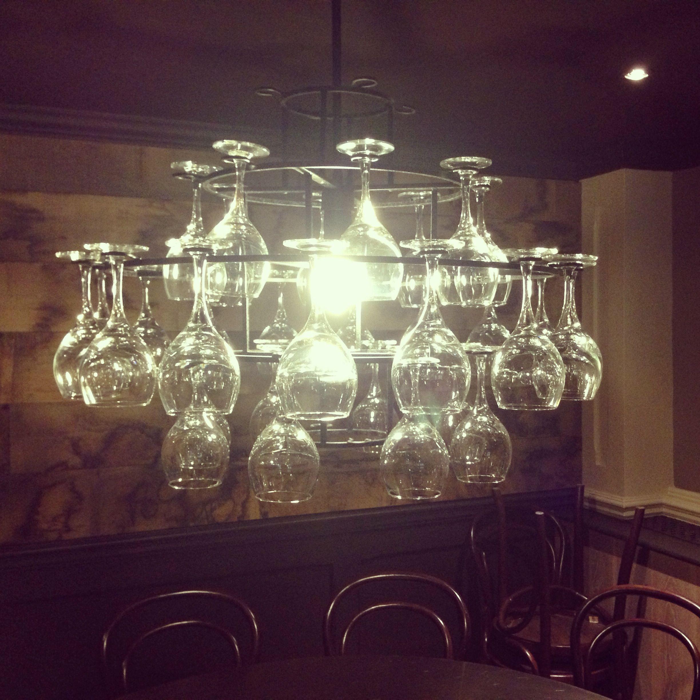 Wine glass chandelier product design Pinterest
