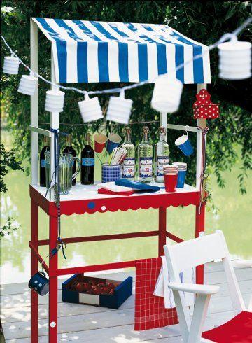Un meuble buvette en bois peint Party planning and Tablescapes - meuble en bois repeint