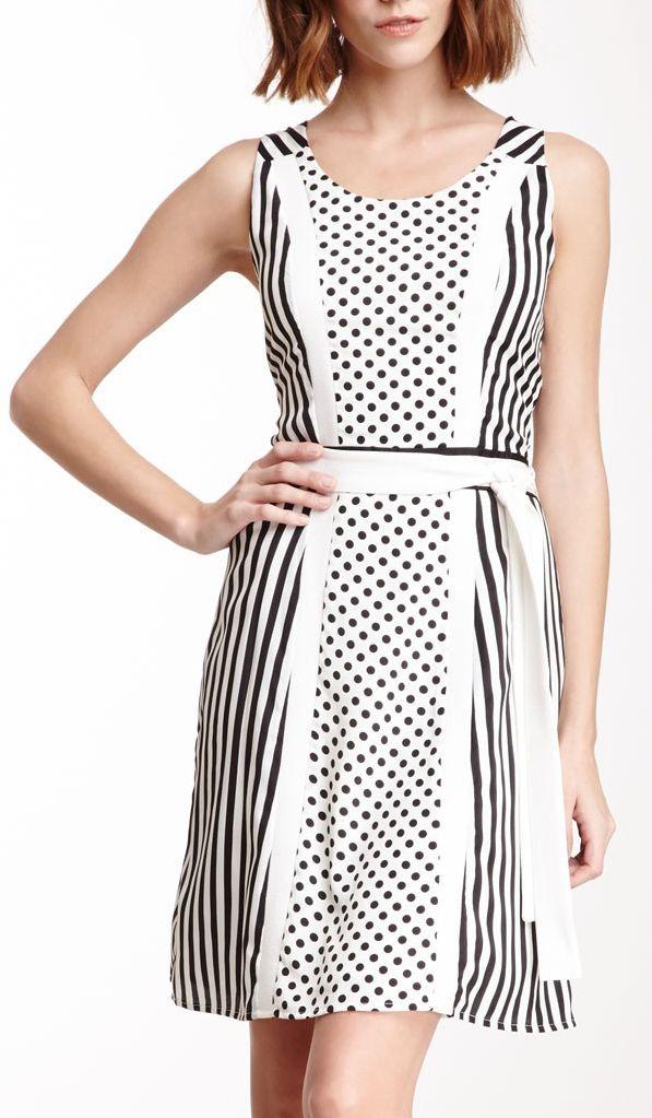 Polka Dot Stripe Dress | Casual fashion | Pinterest | Nähen