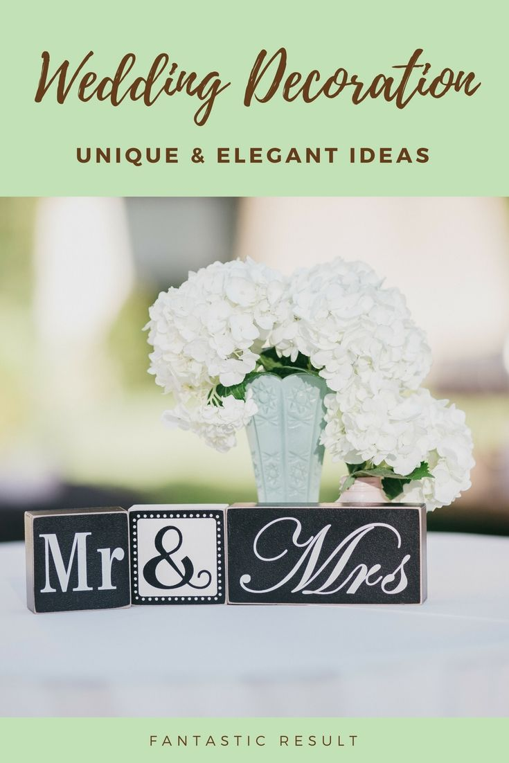 Unique Wedding Decor Ideas Gallery  Gorgeous And Budget Friendly