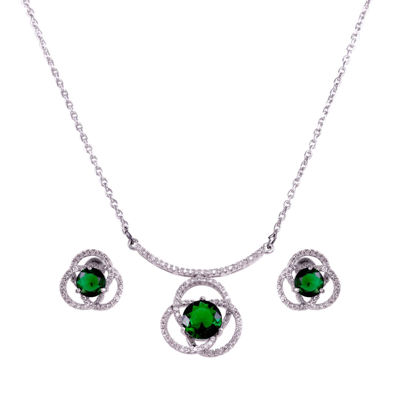 """Perfect Bridal"" Camellia Jewelry Set"