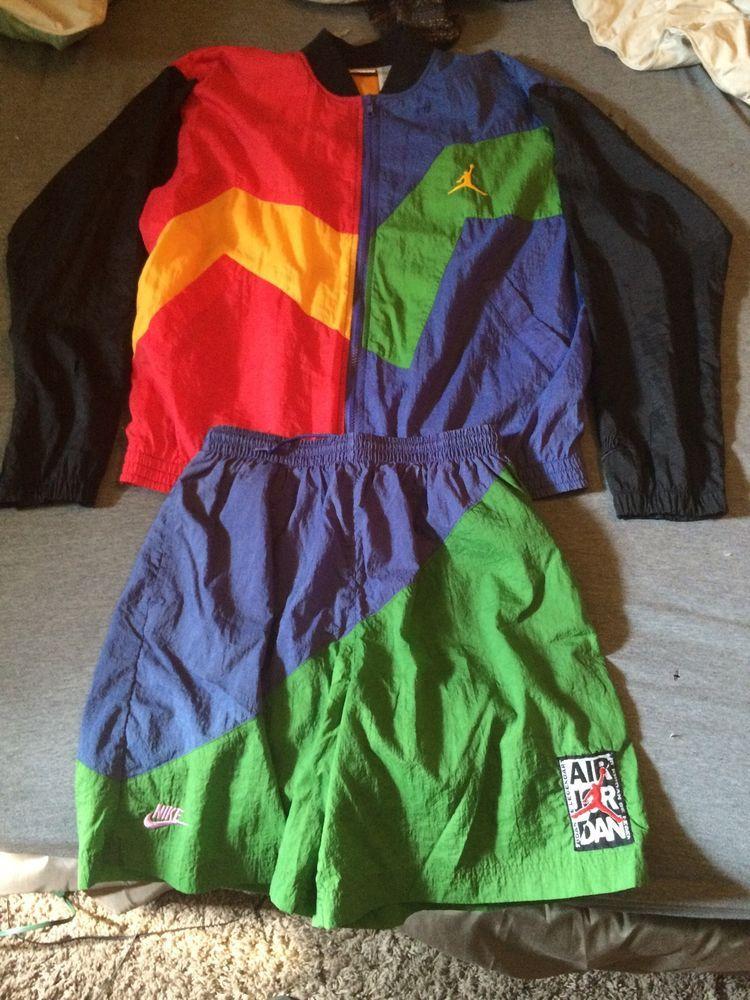 Vintage Jordan 90 S Windbreaker Shorts Nike 90s Windbreaker Windbreaker 80s And 90s Fashion