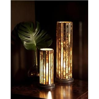 Belle And June Home Decor Modern Sleek Stylish Mirror Hurricane Lamp From Belle And June