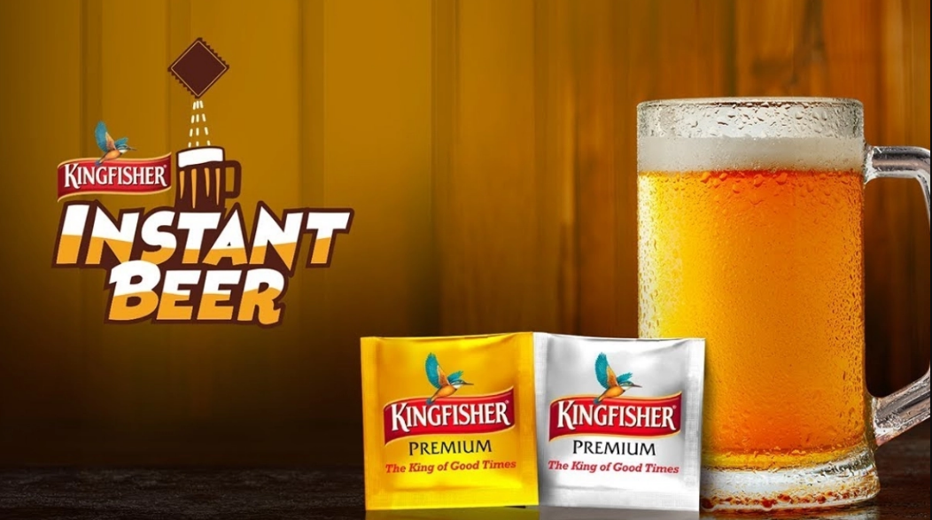 Kingfisher Instant Beer In Sachet Any Time Any Where Beer Best Beer Kingfisher Beer