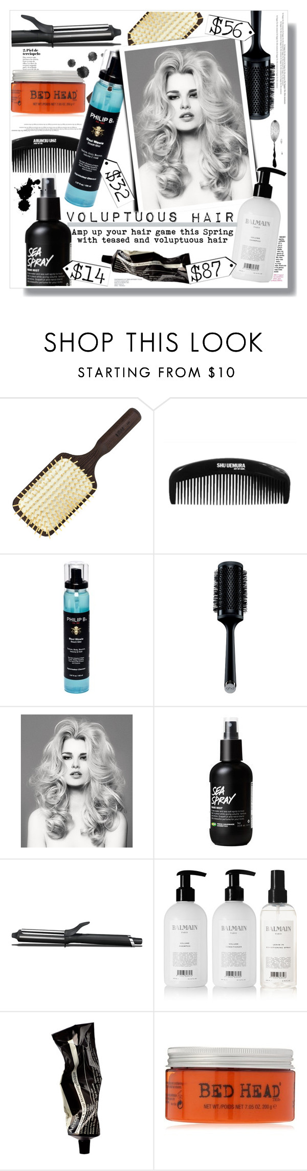 """""""Spring Hair"""" by chocolate-addicted-angel on Polyvore featuring beauty, Ibiza Hair, Philip B, GHD, Balmain, Aesop, Spring, Beauty, hair and 2016"""