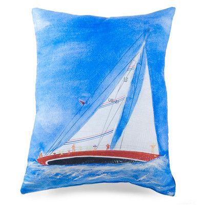 lava Sailboat Painted Pillow | AllModern