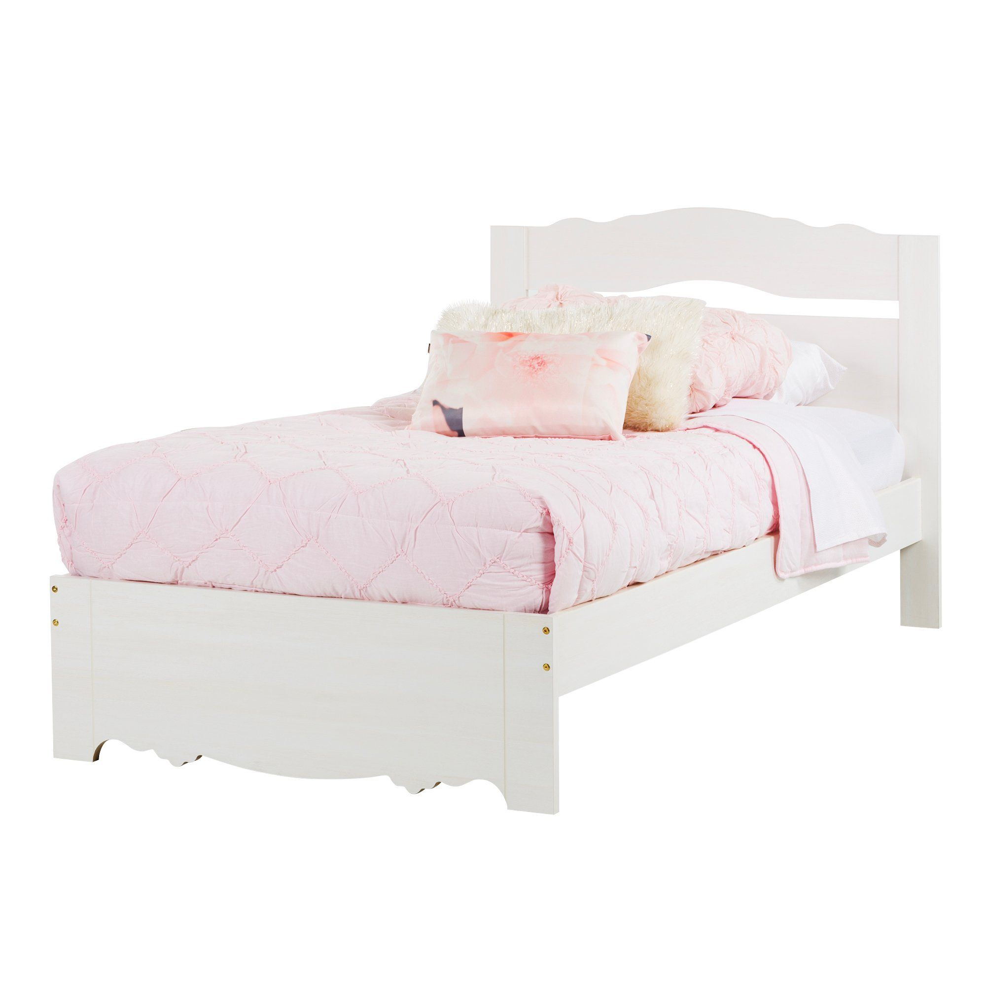 White Wash Twin Bed Set (39 Inch) Lily Rose Bedding