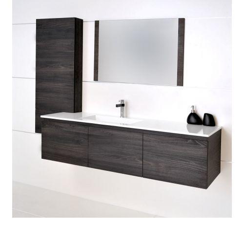 Summer Slim 1500 Left Offset Vanity, Pre Built Bathroom Vanities