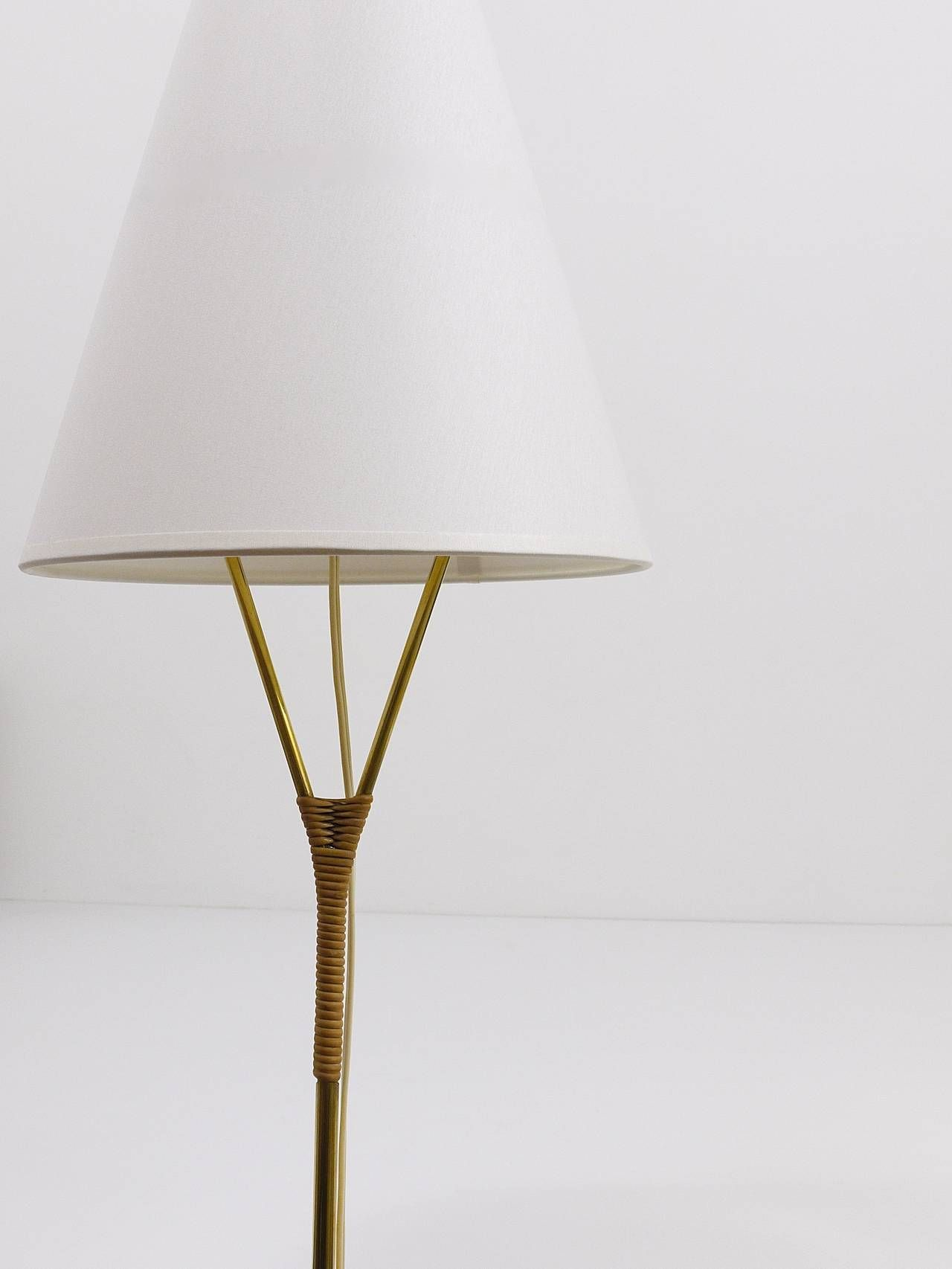 Pair of floor lamps produced by falkenbergs belysning ab in sweden at - Carl Aub Ck Vice Versa Brass Floor Lamp Austria 1950s