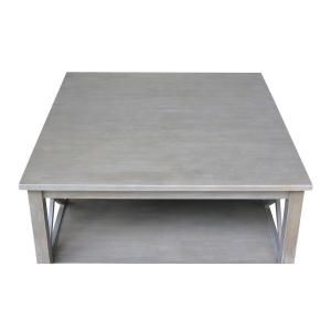 ad51da1d89ce International Concepts Hampton Weathered Taupe Gray Coffee Table - OT09-70SC  - The Home Depot