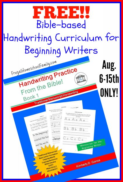 Free Bible-based Handwriting Curriculum (limited time ...