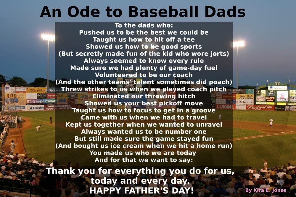 An Ode To Baseball Dads Happy Father S Day Baseball Dad Baseball Quotes Baseball Coach Gifts