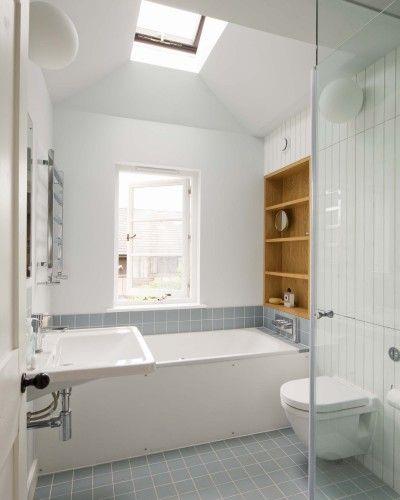 white bathroom interior terrace house renovation