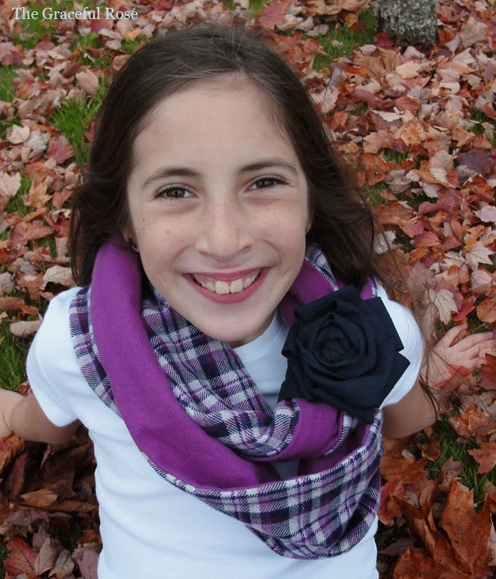 The Graceful Rose: Kid Sized Infinity Scarf Tutorial