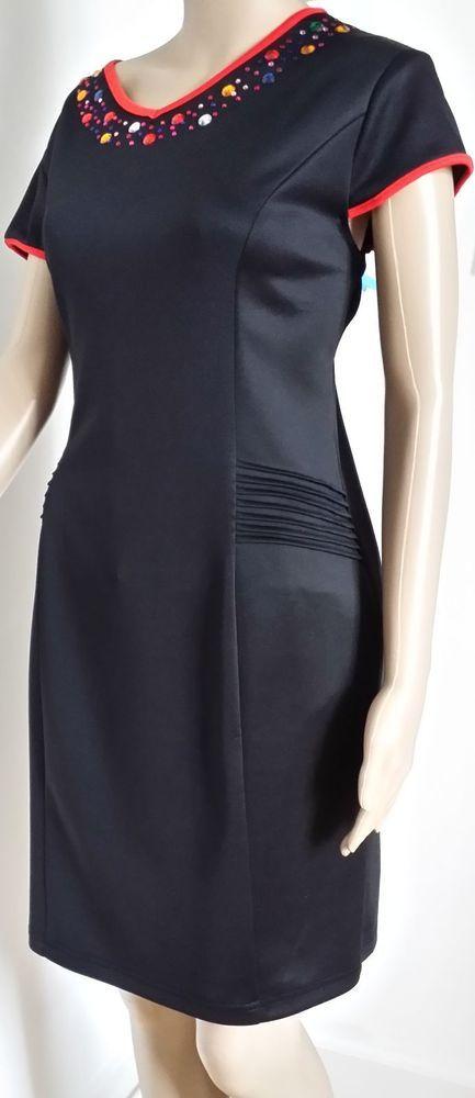 Jewel Embellished Neckline Dress
